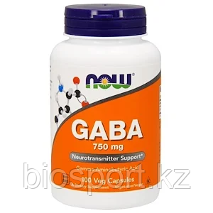 Now Foods, GABA 750 мг, 100 капсул