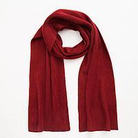 Шарф женский шерстяной, цвет бордовый, размер 23х160