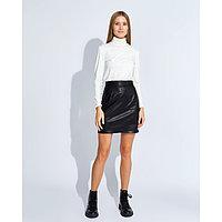 """Юбка женская MINAKU """"Leather look"""", длина мини, размер 44, цвет чёрный"""