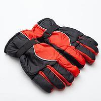 Перчатки зимние мужские MINAKU, цв.черный/красный, р-р 9 (27*13 см)