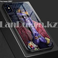 Чехол на iPhone X прорезиненный с принтом Таноса