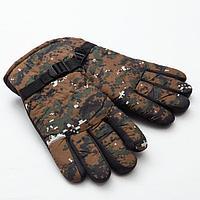 """Перчатки зимние мужские MINAKU """"Хаки"""", цв.зеленый, р-р 9 (27 см)"""