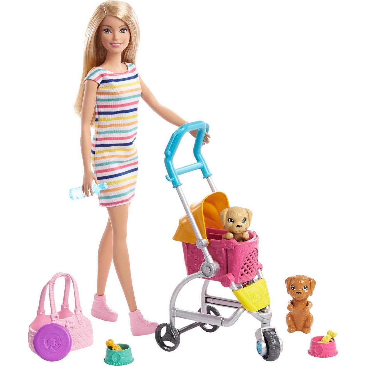 """Barbie Игровой набор """"Кукла Барби с щенками в коляске"""", Кем быть?"""