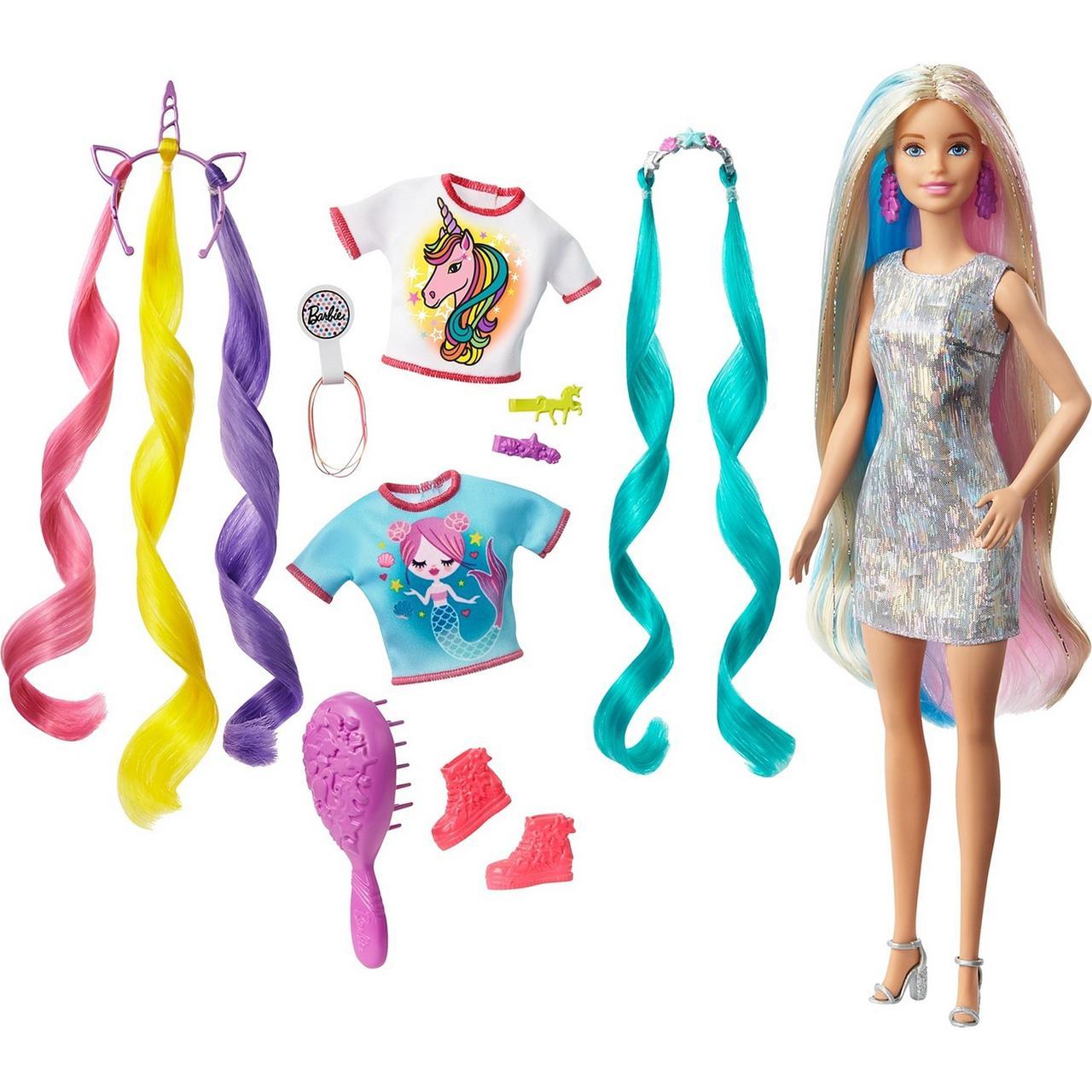 """Barbie Набор """"Волшебные волосы Барби"""" из Единорога в Русалку"""