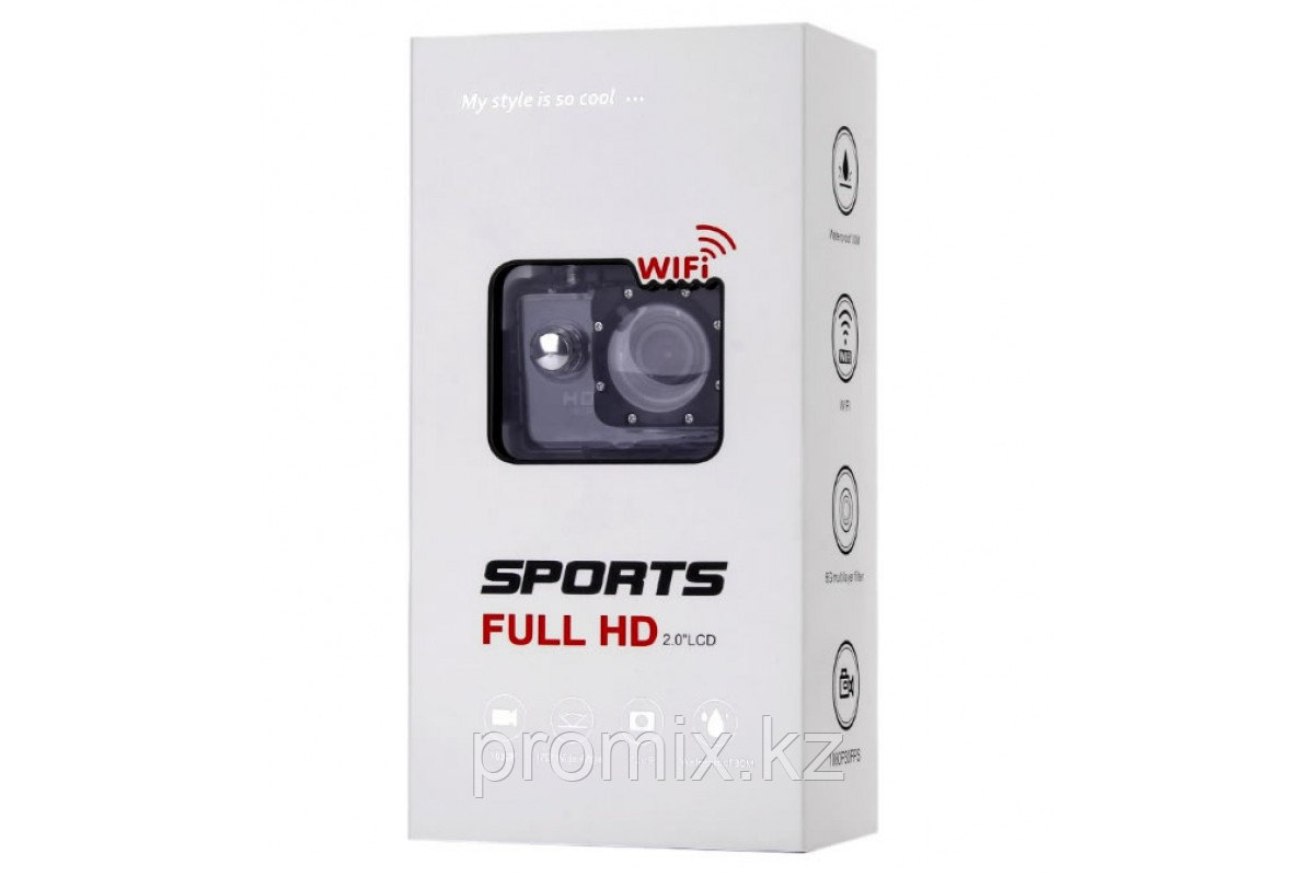 Экшен камера F-71 WiFi 12 Mpx 1080P FHD