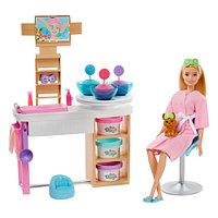 """Barbie Игровой Набор """"День в спа Барби"""" Салон с маской для лица"""