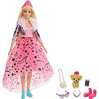 """Barbie Игровой Набор """"Приключения Принцессы"""" Кукла Нарядная принцесса Барби Блондинка с акссесуарами"""