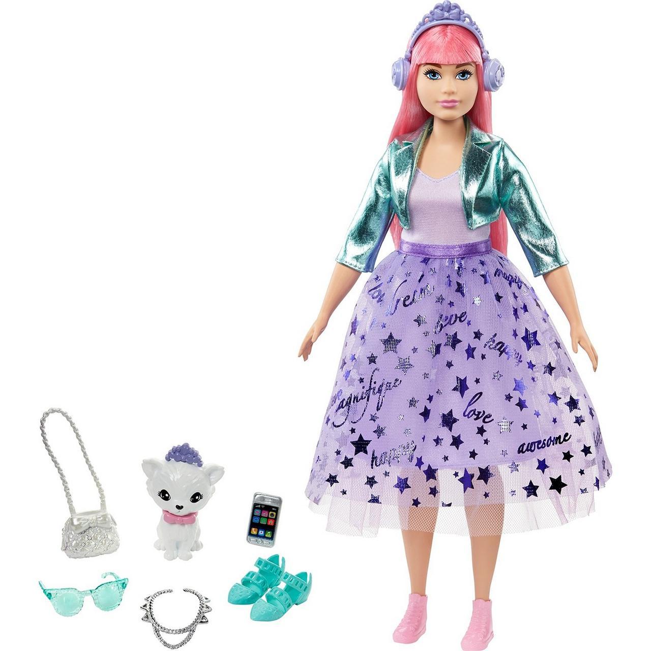 """Barbie Игровой Набор """"Приключения Принцессы"""" Кукла Нарядная принцесса Барби с розовыми волосами"""