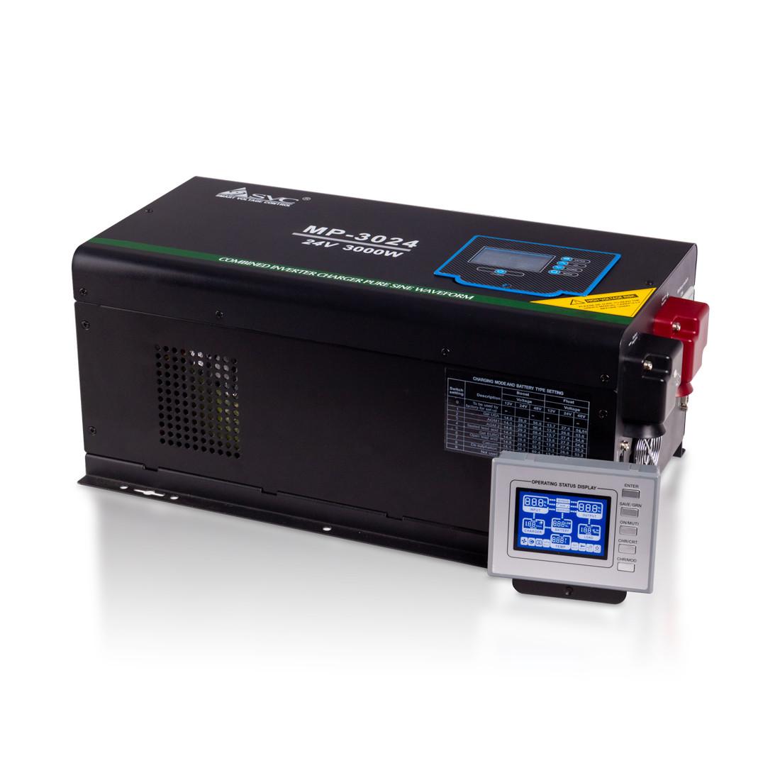 Инвертор, SVC, MP-3024, Мощность 3000ВА/3000Вт, Рабочее напряжение: 160-265B, Вход 24В/220В, Выход 2