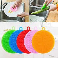 Силиконовая губка для мытья посуды, фото 1