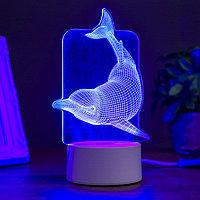 """Светильник """"Большой дельфин"""" LED RGB от сети"""
