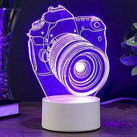 "Светильник ""Фотоаппарат"" LED RGB от сети 10х13,5х20,4см"