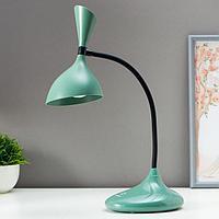 Лампа настольная сенсорная 16089/1GR LED 3Вт USB АКБ 3000-6000К зелено-черный 11х17,5х39 см   509160