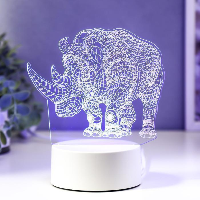 "Светильник ""Носорог"" LED RGB от сети"