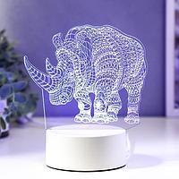 """Светильник """"Носорог"""" LED RGB от сети, фото 1"""