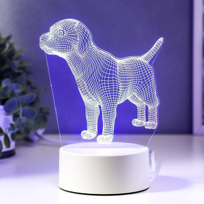 """Светильник """"Собачка"""" LED RGB от сети"""