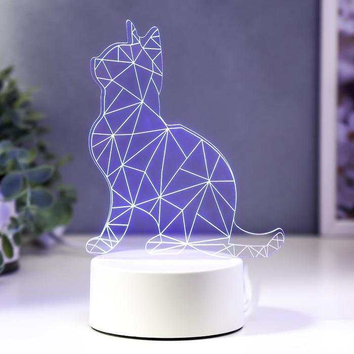 """Светильник """"Кот сидя"""" LED RGB от сети"""