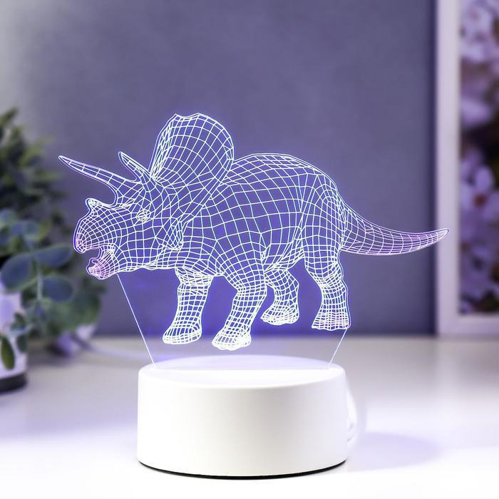 """Светильник """"Трицераптос"""" LED RGB от сети"""