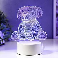 """Светильник """"Плюшевая собачка"""" LED RGB от сети"""