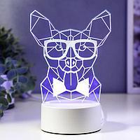 """Светильник """"Собака в очках"""" LED RGB от сети 13х16,4 см"""