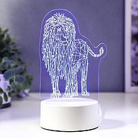 "Светильник ""Лев"" LED RGB от сети 13х18,9 см"