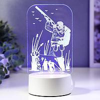 "Светильник ""Охотник"" LED RGB от сети 13х21,5 см"