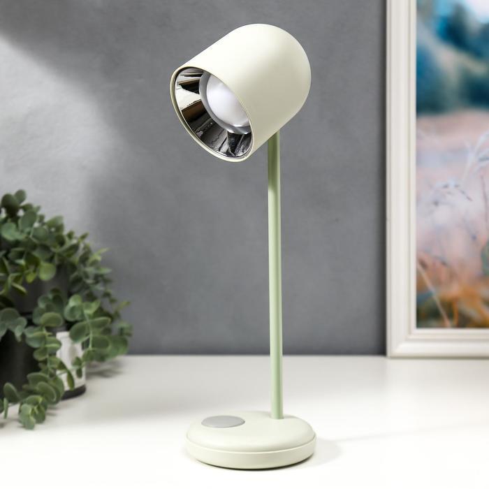 Лампа настольная 16045/1WT LED 4Вт 3 режима  АКБ USB белый 10,5х10,5х34,5 см