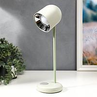 Лампа настольная 16045/1WT LED 4Вт 3 режима  АКБ USB белый 10,5х10,5х34,5 см, фото 1