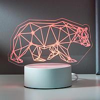 """Светильник """"Медведь"""" LED RGB от сети 20х12,7 см"""