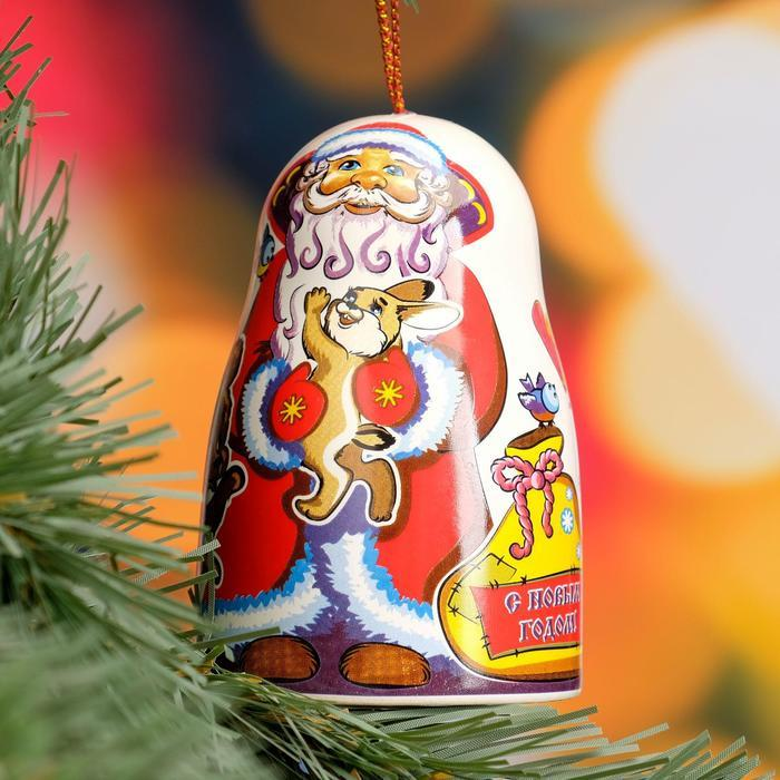 """Сувенир-колокольчик """"Дед Мороз"""", керамика"""