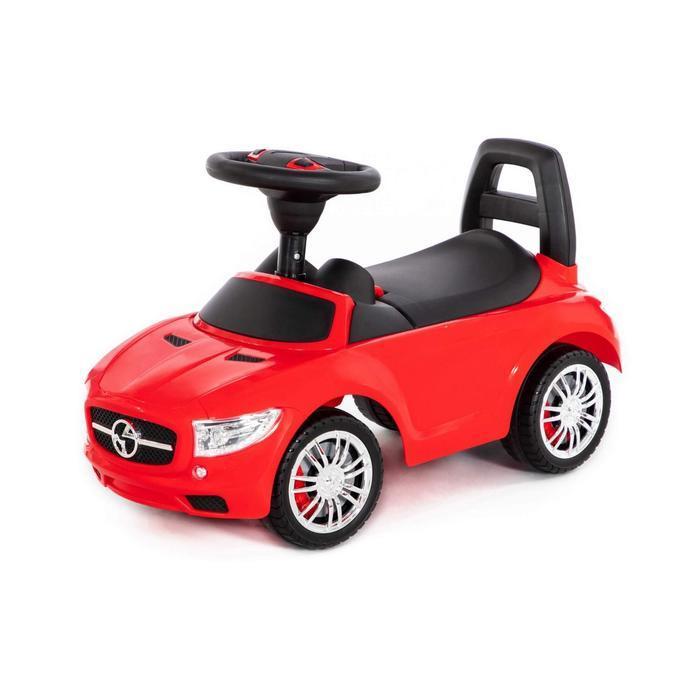 """Каталка-автомобиль """"SuperCar"""" №1 со звуковым сигналом, красный 84460"""