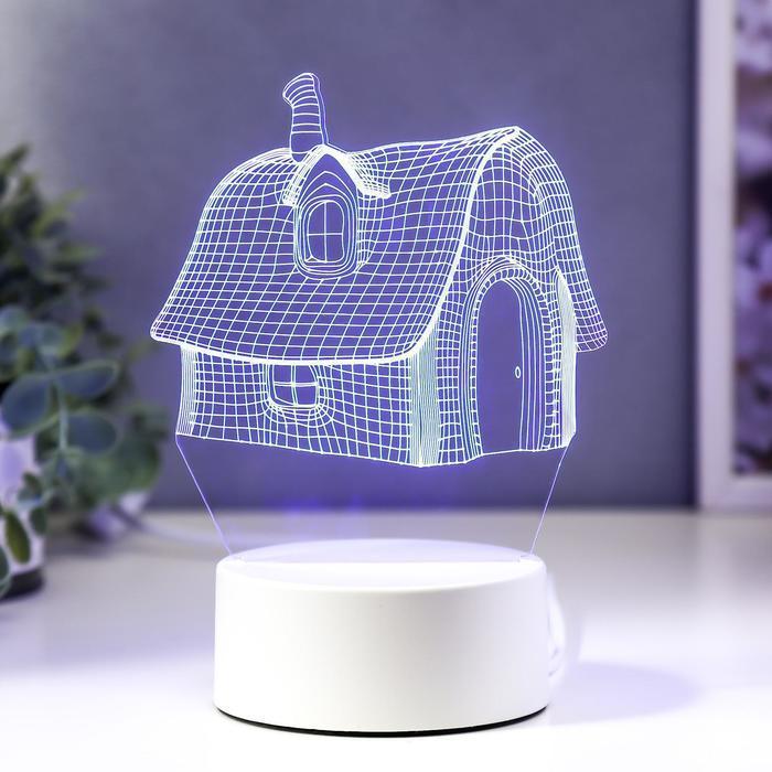 """Светильник """"Уютный дом"""" LED RGB от сети"""