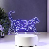 """Светильник """"Кот стоя"""" LED RGB от сети"""