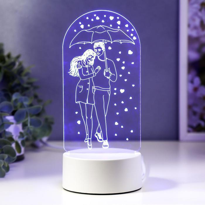 """Светильник """"Влюбленная пара"""" LED RGB от сети 11х21,5 см"""