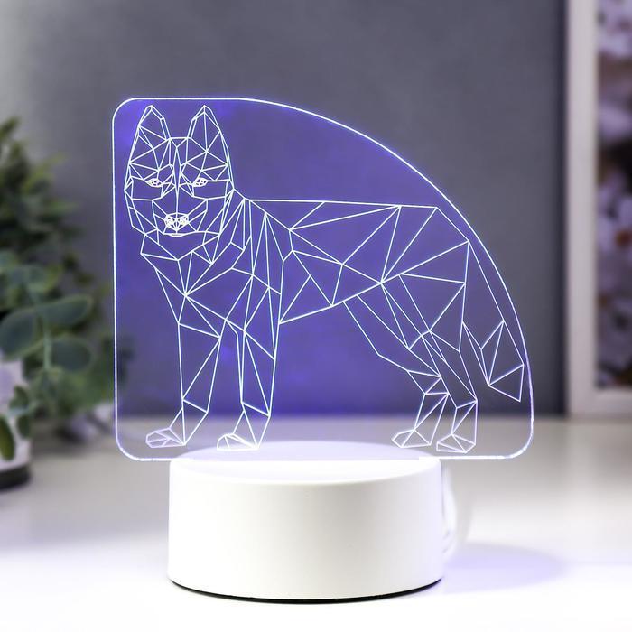 """Светильник """"Волк"""" LED RGB от сети 15х14,5 см"""