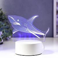 """Светильник """"Акула"""" LED RGB от сети 20х14,4 см"""