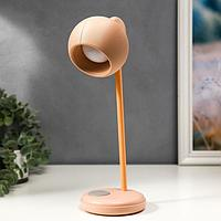 Лампа настольная 16044/1PK LED 4Вт 3 режима  АКБ USB розовый 10,5х10,5х31 см