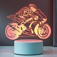 "Светильник ""Мотоциклист"" LED RGB от сети 17х14,5 см"