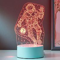"""Светильник """"Космонавт"""" LED RGB от сети 20х13 см"""