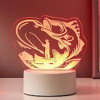 """Светильник """"Рыбак"""" LED RGB от сети 18,2х14,5 см"""