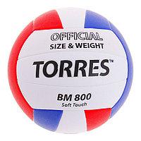 Мяч волейбольный Torres BM800, V30025, размер 5, PU, клееный