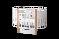 Кровать овальная Элен 3 маятник+ящик