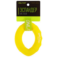 Эспандер кистевой 10 х 7 см, нагрузка 20 кг, цвет жёлтый