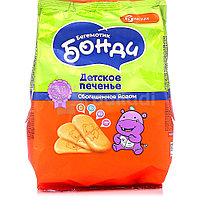 Печенье БОНДИ БЕГЕМОТИК с железом 200г