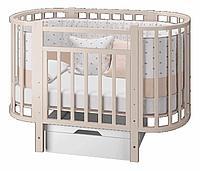 Кровать-трансформер Можгамебель Элен 3 с маятником и ящиком (слоновая кость)
