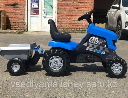 "Каталка-трактор с педалями ""Turbo"" + Полуприцеп ""Turbo"" - фото 2"