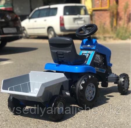 "Каталка-трактор с педалями ""Turbo"" + Полуприцеп ""Turbo"" - фото 5"