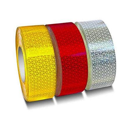 Светоотражающая лента самоклеющаяся 30 м красная и жёлтая, фото 2
