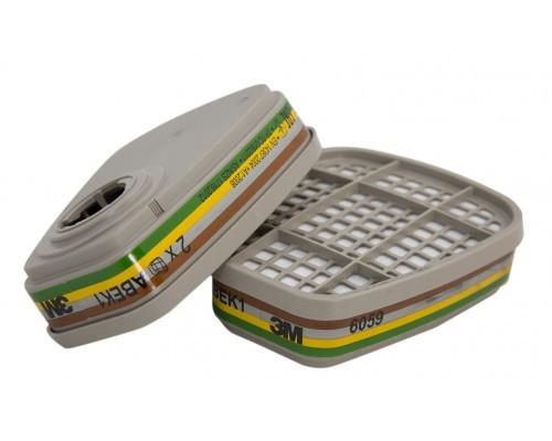 Фильтр 3M™ 6059 для полумаски 3M™ 6000, 3M™6500QL, 3M™7500