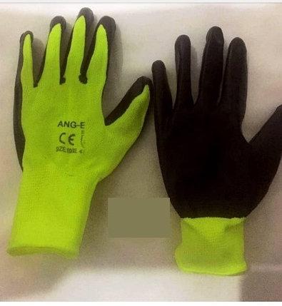 Перчатки нейлоновые желтые (вспененный полиуретан), фото 2